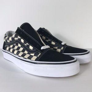 Vans Old Skool Blur Checkerboard Black Sneakers